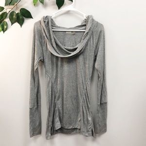 ZELLA | Grey Hooded Long Sleeve Workout Top